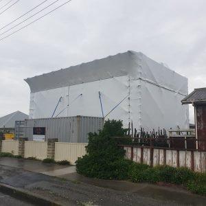 All Area Scaffolding - Shrink wrap scaffold
