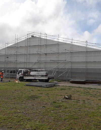 Steel Shed scaffold